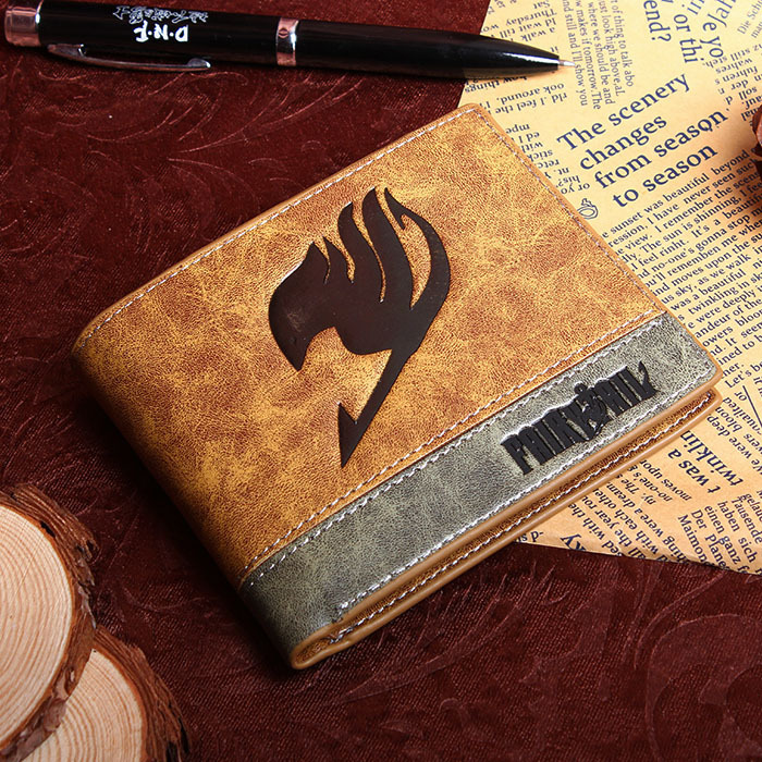 Portefeuille en PU imprimé avec la marque Japan Anime Fairy Tail Magic Association