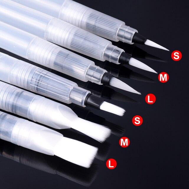 6 piezas/3 piezas pincel de pintura portátil de Color agua pincel lápiz suave pincel de acuarela para dibujo de pintura principiante suministros de arte