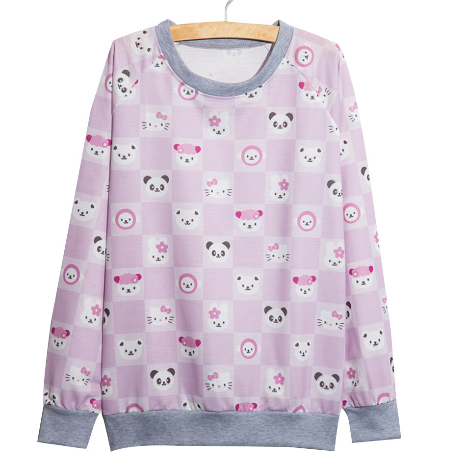 JU Fashion Store 2017 Autumn Winter Style Women Harajuku Casual Cotton Hoodies Long sleeve Sweatshirt Fashion Loose Casual Pullovers Women