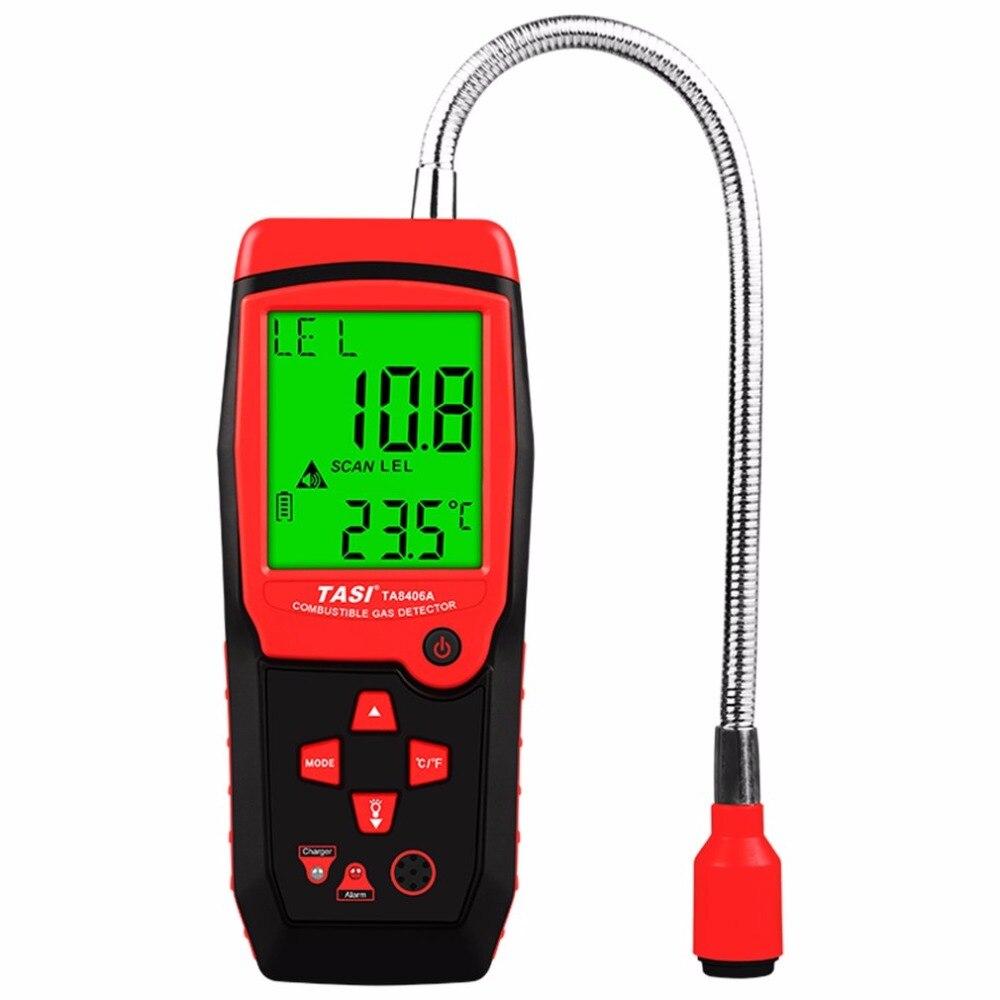 TA8406A puissance de charge détecteur de gaz naturel portatif renifleur de gaz Combustible détecteur de fuite de méthane alarme lumière LED avertisseur sonore