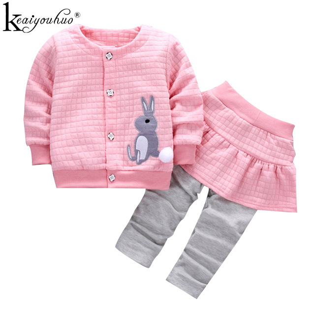 Girls Clothes Sets Long Sleeve Sport Suit Winter Baby Girl Clothes Sets Cotton Tracksuit For Kids Outfit Suits Children Clothing