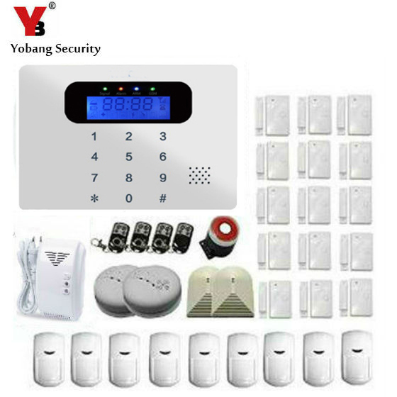 YobangSecurity 433Mhz Sensor GSM network Sim Call LCD Smart Dislay+Touch Keypad Home Security Voice Burglar Alarm android ios app sensor dual network gsm pstn 2g sim call lcd smart dislay touch keypad home burglar security alarm