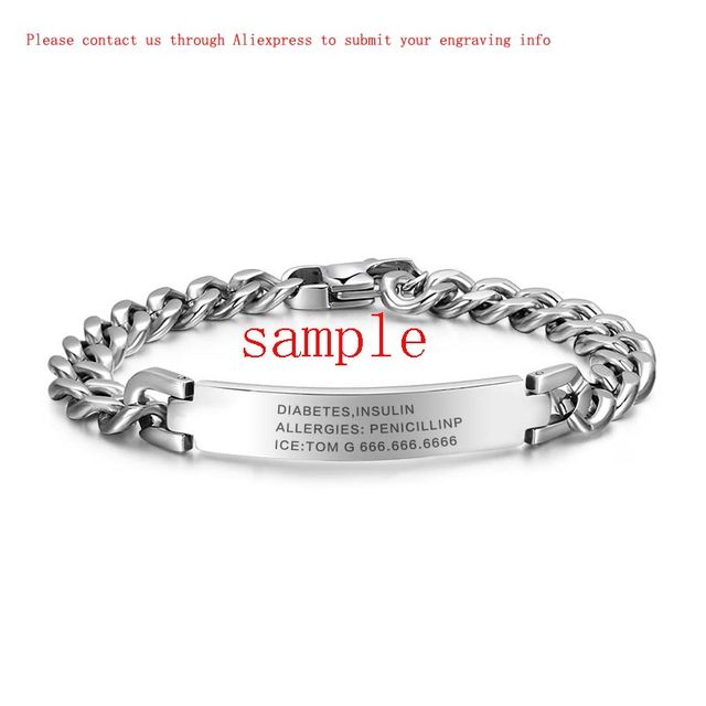 Engraving 316l stainless steel bracelet & bangle