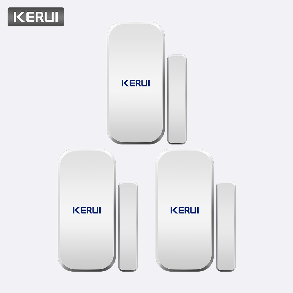KERUI 3pcs/lot Wireless Magnetic Door Sensor Detectors 433Mhz Door Alarm For Home Alarm System Door Sensor Alarme De Porte
