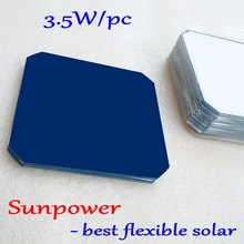 цены 21.8-24% 125mm Mono Solar Cells 5x5 from Sunpower,  max 3.34W high-efficiency 125mm Monocrystalline solar cells 20pcs/lot