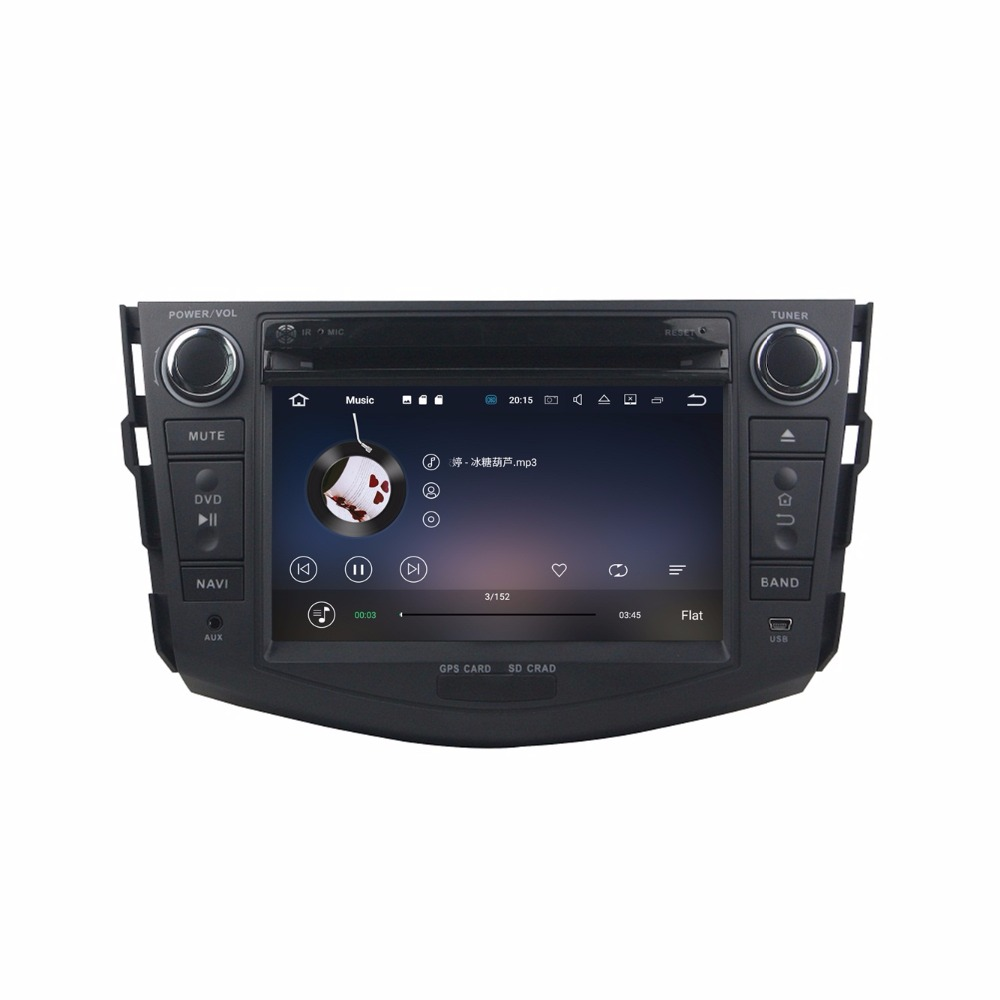 Best Octa Core 7 inch 8 core Android 9.0 Car Radio DVD player GPS for for Toyota RAV4 2006-2012  gps 4G RAM 64G ROM stereo auto audio 4