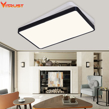 The new ultra-thin  bedroom lamp rectangular living room ceiling lamps iron LED modern minimalist Restaurant