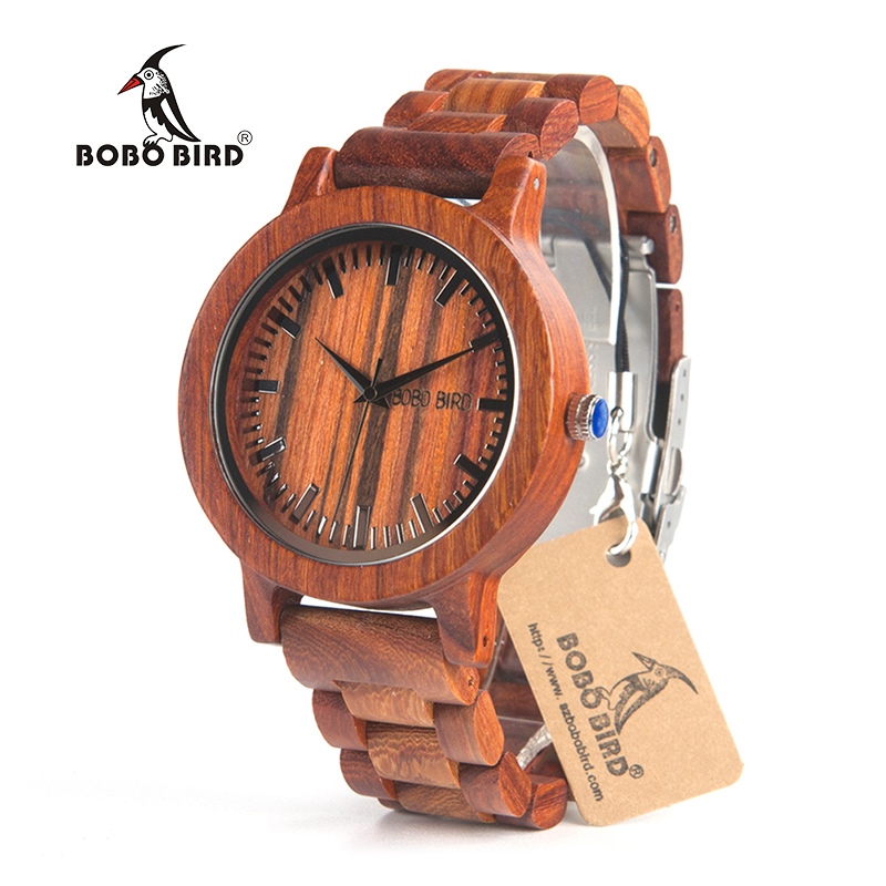 BOBO BIRD-M10 Handmade Men Wooden Luxury Quartz Brand Men's Dress Analog Watch With Japan Movement In Gift Box