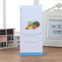 New Doll House Miniature Furniture Fridge Refrigerator for Accessories Classic Simulate Toys Children Girl Gift