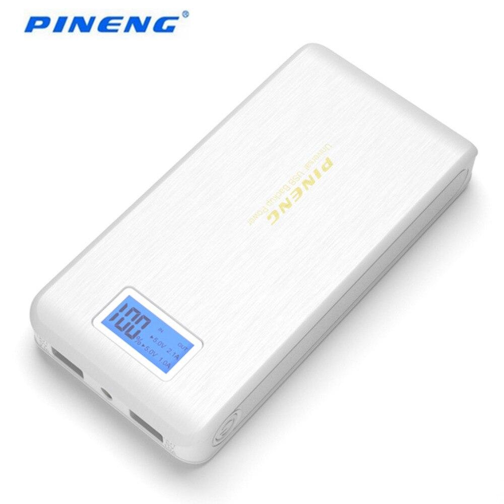 imágenes para 100% Original Caliente PN-952 PINENG Banco Móvil de la Energía 15000 mAh Dual USB LCD Linterna Teléfonos Externa Powerbank Cargador de Batería
