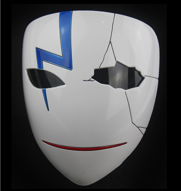 High Quality Anime Darker Than Black Hei Cosplay Resin Mask Halloween Masks Full Face Mask Carnival Cosplay Mask in Boys Costume Accessories from Novelty Special Use