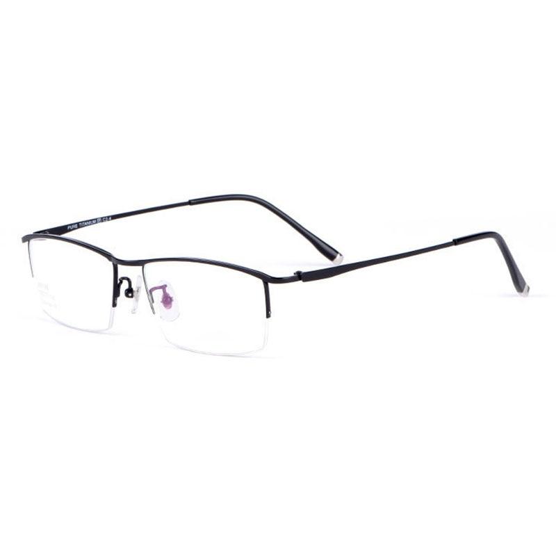 Reven Jate Glasses Half Rim Eyeglasses Titanium Frame Optical Lens Prescription Eye Glasses Frame Eyewear