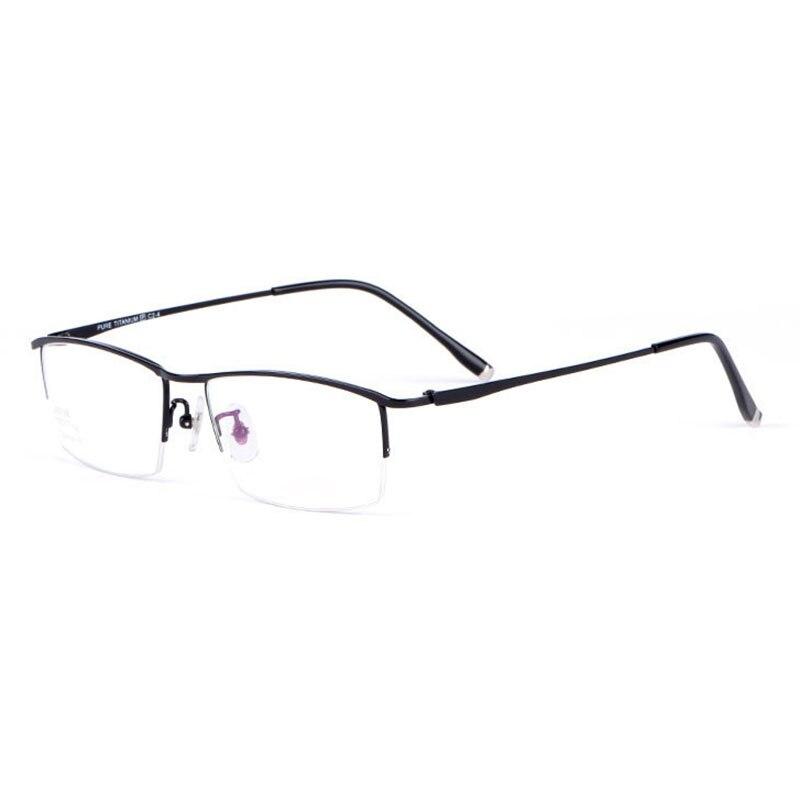Reven jateメガネハーフリム眼鏡チタンフレーム光学レンズ処方メガネフレーム眼鏡  グループ上の アパレル アクセサリー からの 眼鏡フレーム の中 1