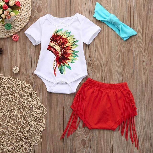 b75ae5787ab1 2018 Kids Baby Girl Clothing Set 3Pcs Newborn Infant Baby Indian ...