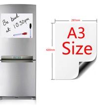 A3 Размер магнитная доска мягкий Дом Офис Кухня магнит Маркерная Доска белые доски гибкий диск магнитная доска холодильник