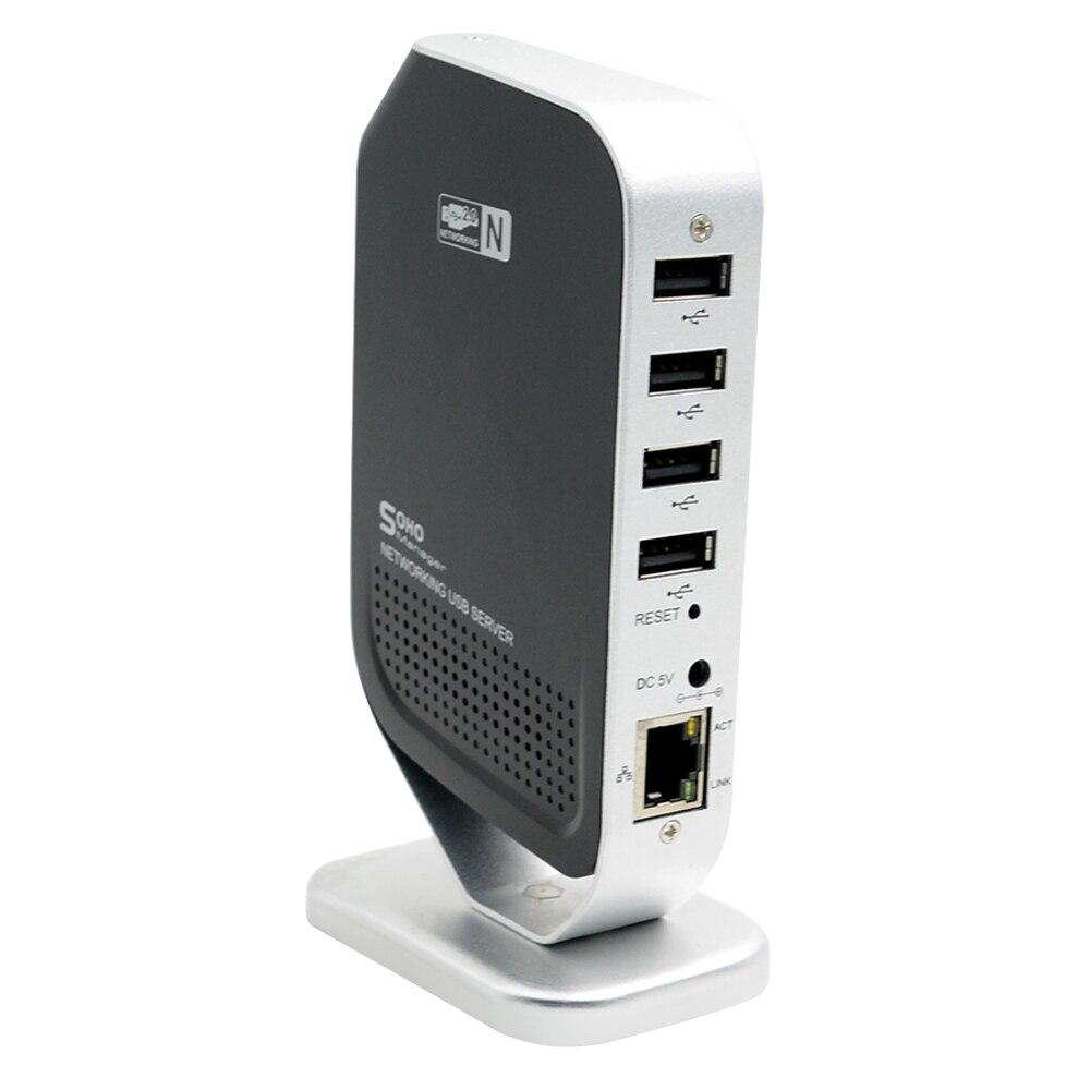 USB 4 Порты и разъёмы сервер печати Точки доступа сети факс USB принтерам сервер стабильно высокое Скорость для Оконные рамы 2000/XP /Vista/7 шт.