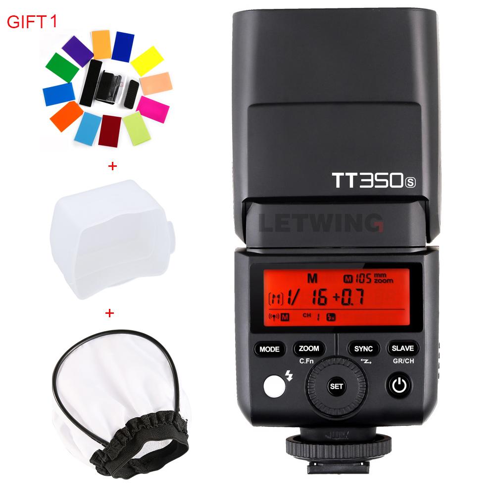 Prix pour Godox mini speedlite tt350s tt350n tt350c tt350o caméra flash ttl hss gn36 pour sony mirrorless dslr caméra a7 a6000 a6500 série