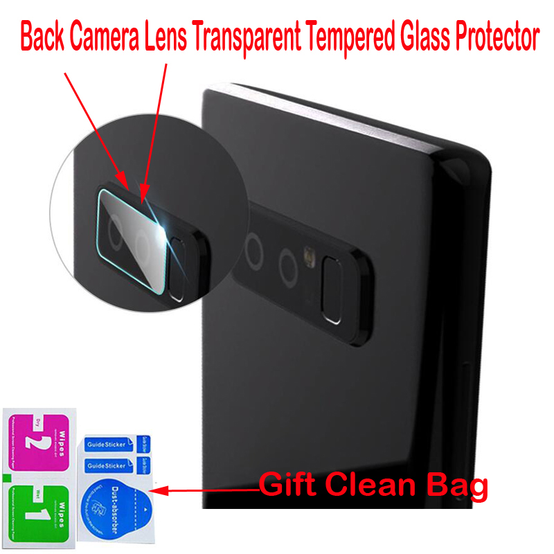 20Pcs/lot, Back Camera Lens Tempered Glass For Samsung Galaxy Note 8 S7 edge S8 Plus High Quality