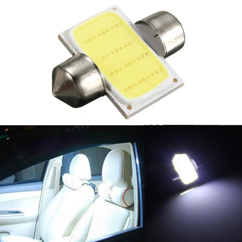31mm 6W C5W Festoon Light Bulb Error FREE Car COB LED Reading Light Number License Plate