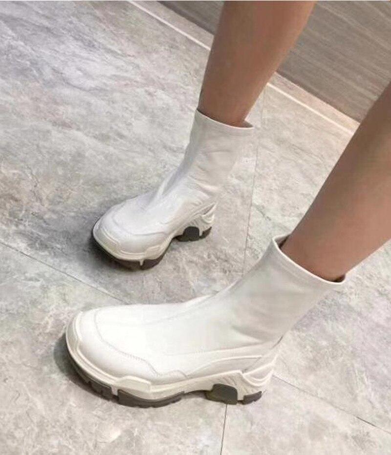 Épais Femmes Chaussures Blanc Chaussette Plates Picture Fond Occasionnels Luxe Cuir Marque Noir as De Chaussons 2018 As Glissement Sur formes Des En Mode Picture Formateurs 8YwRq84x