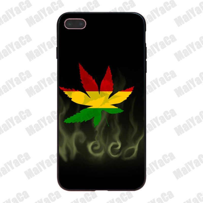 MaiYaCa Détendre Un Peu Fumer De L'herbe Respirer Hybride De Luxe doux téléphone étui pour iphone 8 7 6 Plus X XS XR XSMax 5 5S SE Coque Coque