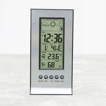 1PC Thermometer Hygrometer Alarm ClockCalendar Temperature Records Wireless Weather Station with Wireless Sensors Meteo Station Календарь