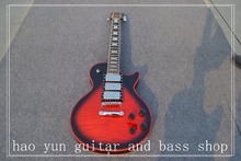 Free shipping gbson LP 2 pickups mahogany body les red custom electric guitar from china factory direct
