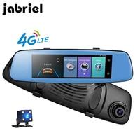 Jabriel 4G GPS Navigation Rear View Mirror ADAS Car DVR 8 Inch Android Touch Dash Cam Remote Monitor Full HD 1080P Car Camera