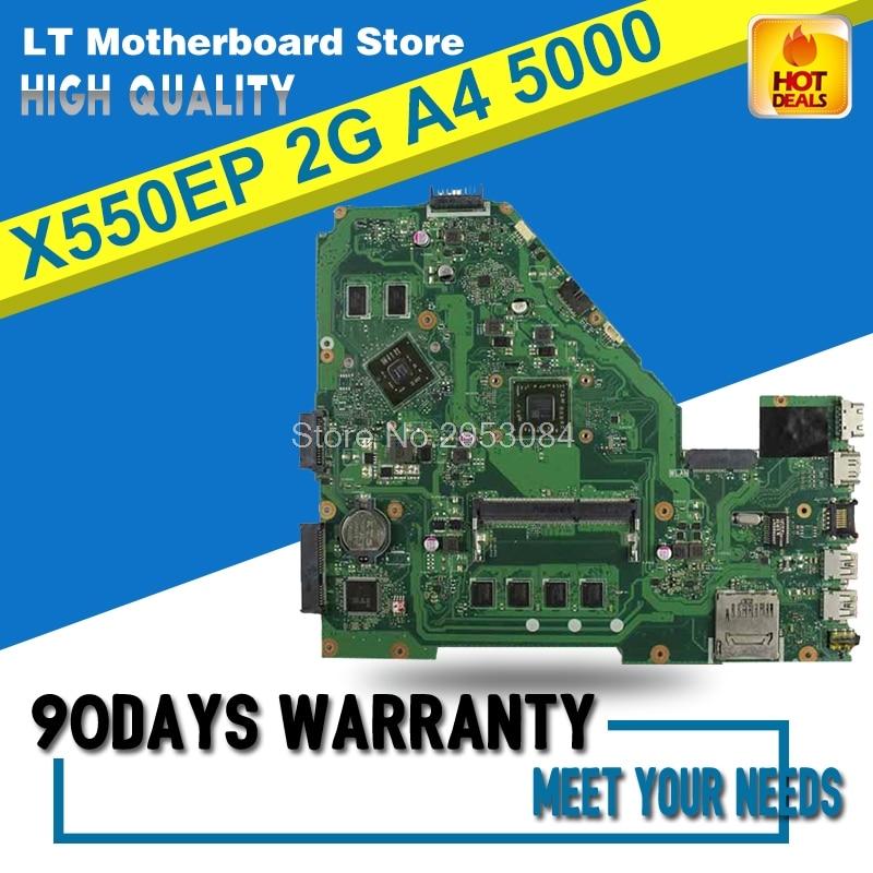 все цены на X550EP Laptop motherboard For Original X550E X550EA X552E X552EA Mainboard A4-5000 Processor 2G memory on board Motherboard онлайн