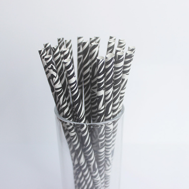 50pcslot zebra paper straws personality for birthday party 50pcslot zebra paper straws personality for birthday party decorations kids wedding decoration party junglespirit Gallery