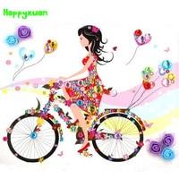 Happyxuan Child Diy Color Diamond Flower Painting Cartoon Princess Elf Kids Handmade Craft Kits Toy Home
