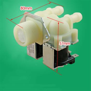 Uniwersalny pralka wody podwójny zawór wlotowy JSF6 pralka zawór elektromagnetyczny o wysokiej wydajności trwała część zamienna tanie i dobre opinie AE-HCDM155-2 Beżowy 351977 Water Double Inlet Valve for universal washing machine
