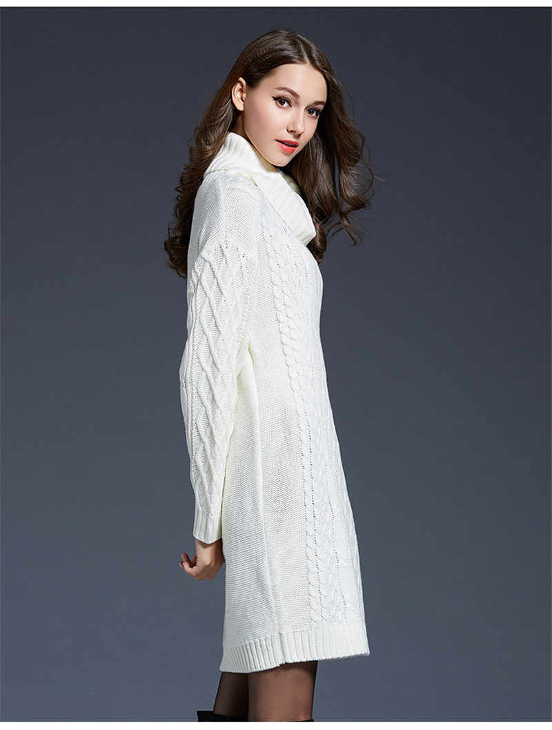 LUO SHA New Women Sweater Pullovers Long Sleeve White Black Turtleneck Women Sweaters and Pullovers Kintted Winter Truien Dames
