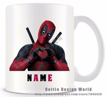Personalized Deadpool funny travel novelty mug Ceramic white coffee tea milk mug cup Custom Mothers day Birthday Easter gifts(China)