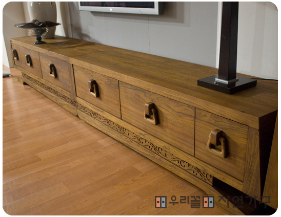 South Korean Exports Genuine Long Tv Cabinet Pure Old Elm Wood Furniture To Storage Aigui In Stands From On Aliexpress Alibaba