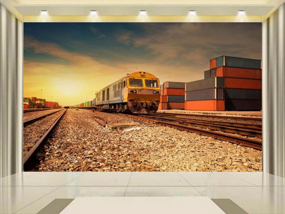 3d wallpaper custom size photo wallpaper living room mural old railway station 3d painting TV background wallpaper for wall 3d