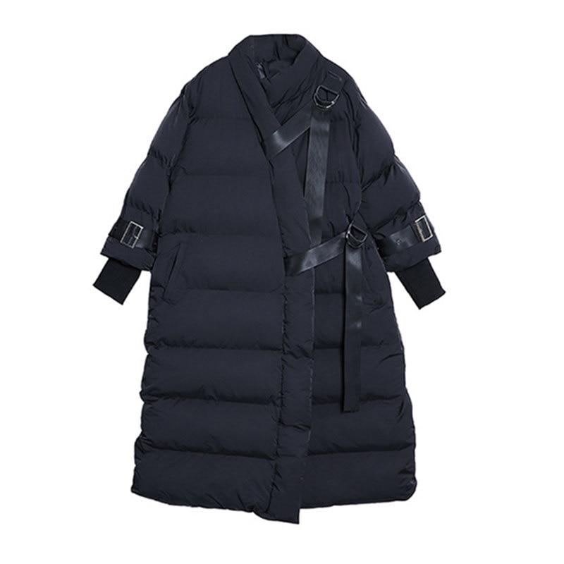 La Lâche Parka Nouvelle Long Coton Streetwear Plus Black D'hiver Vêtements Taille Chaud Lq486 Pardessus Femmes Manteau Veste Épaississent Hvw5v7z