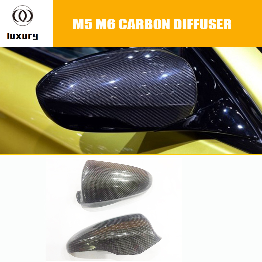 CARBON FIBER For BMW F10 528I 535I ONLY SIDE MIRROR ADD-ON UPGRADE COVERS 14-16