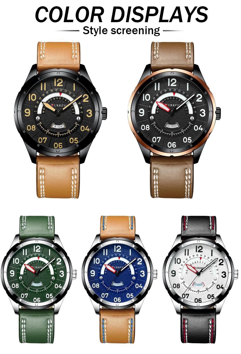 HTB1bRBsaAH0gK0jSZPiq6yvapXas CURREN Date Mens Watches Luxury Sport Watch