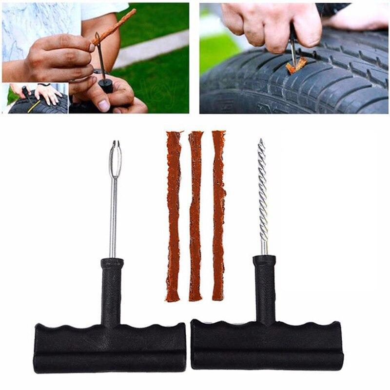 2019 New Car Tire Repair Tool Kit For Tubeless Emergency Tyre Fast Puncture Plug Repair Block Air Leaking For Car/Truck/Motobike