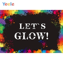 Yeele Holi Festival Photocall Let's Glow Benediction Photography Backdrop Personalized Photographic Backgrounds For Photo Studio цены онлайн