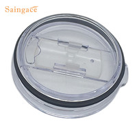 Saingace 20 Oz Spill Proof Lid And Spill Splash Resistant Lid With Slider Closure Crystal Clear 1PC