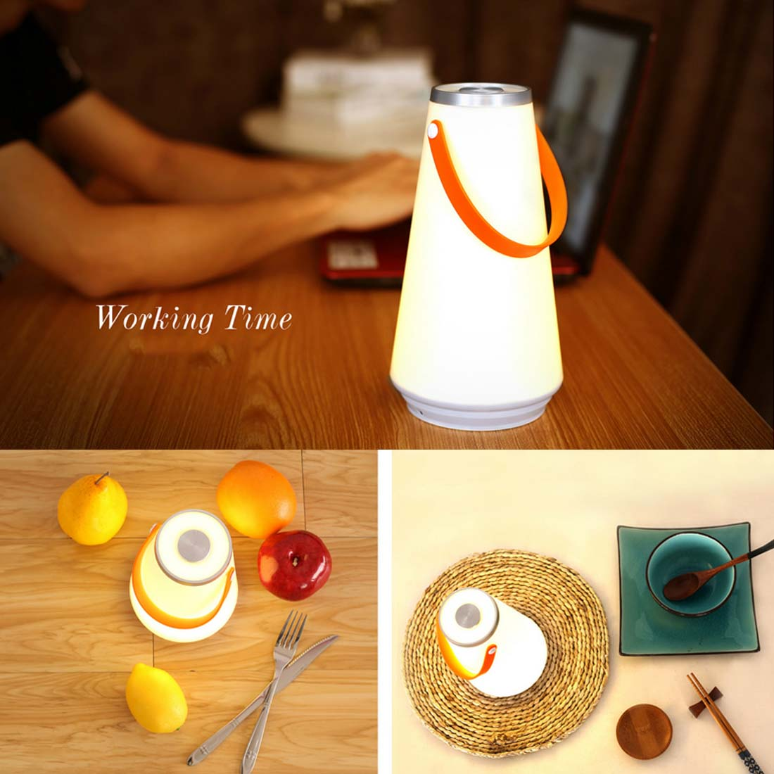Portable Wireless LED Night Light Table Lamp USB Rechargeable Touch Switch Outdoor Camping Travel Home Emergency Light usb rechargeable portable led lamp bulb emergency light with switch high quality
