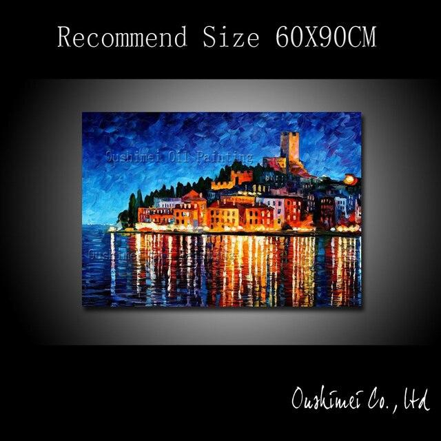 2433 50 De Descuentopintura Al óleo Pintada A Mano Pintura De Paisaje De Venecia Pintura De Paisaje Pintura De Paisaje De Construcción