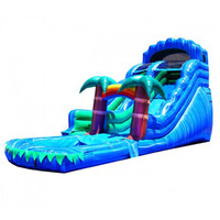 Inflatable water slide with pool/PVC commercial use inflatable water slide for sale