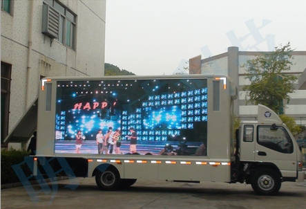 HD Full Color P8 Outdoor Truck Car Display Moveable Advertising Video Wall Player