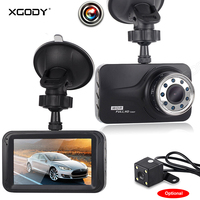 Xgody 3 Inch Dash Camera Night Vision With 9 Pcs Of IR Lights Video Recorder Dash