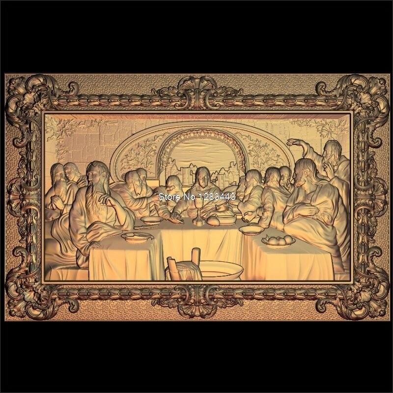 6 stücke Jesus_Lords Abendessen 3d modell STL erleichterung für cnc STL-format Lords Abendessen 3d Relief Modell STL Router 3 achsen Engraver ArtCam