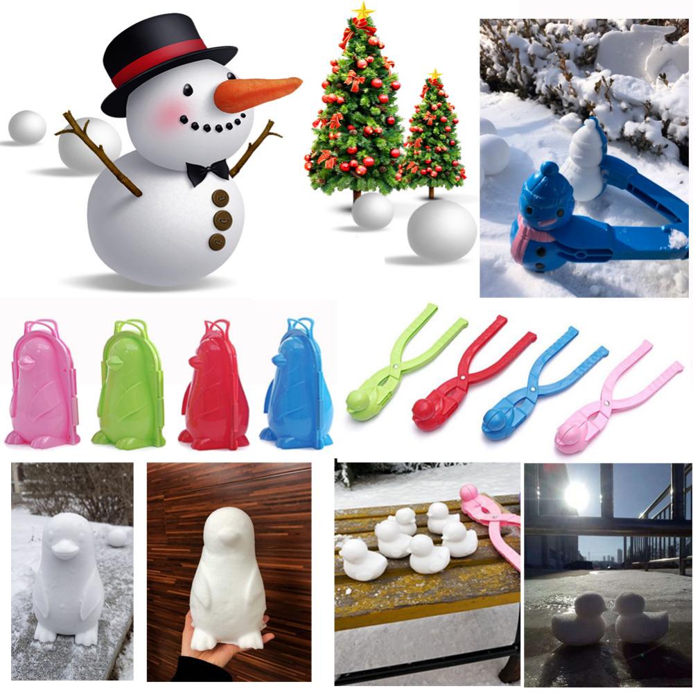 Snowball Clip 1 Pc Winter Snow Ball Maker Sand Mold Tool Kids Toy Snow Maker Clip Outdoor Sports Child Toy Random Color