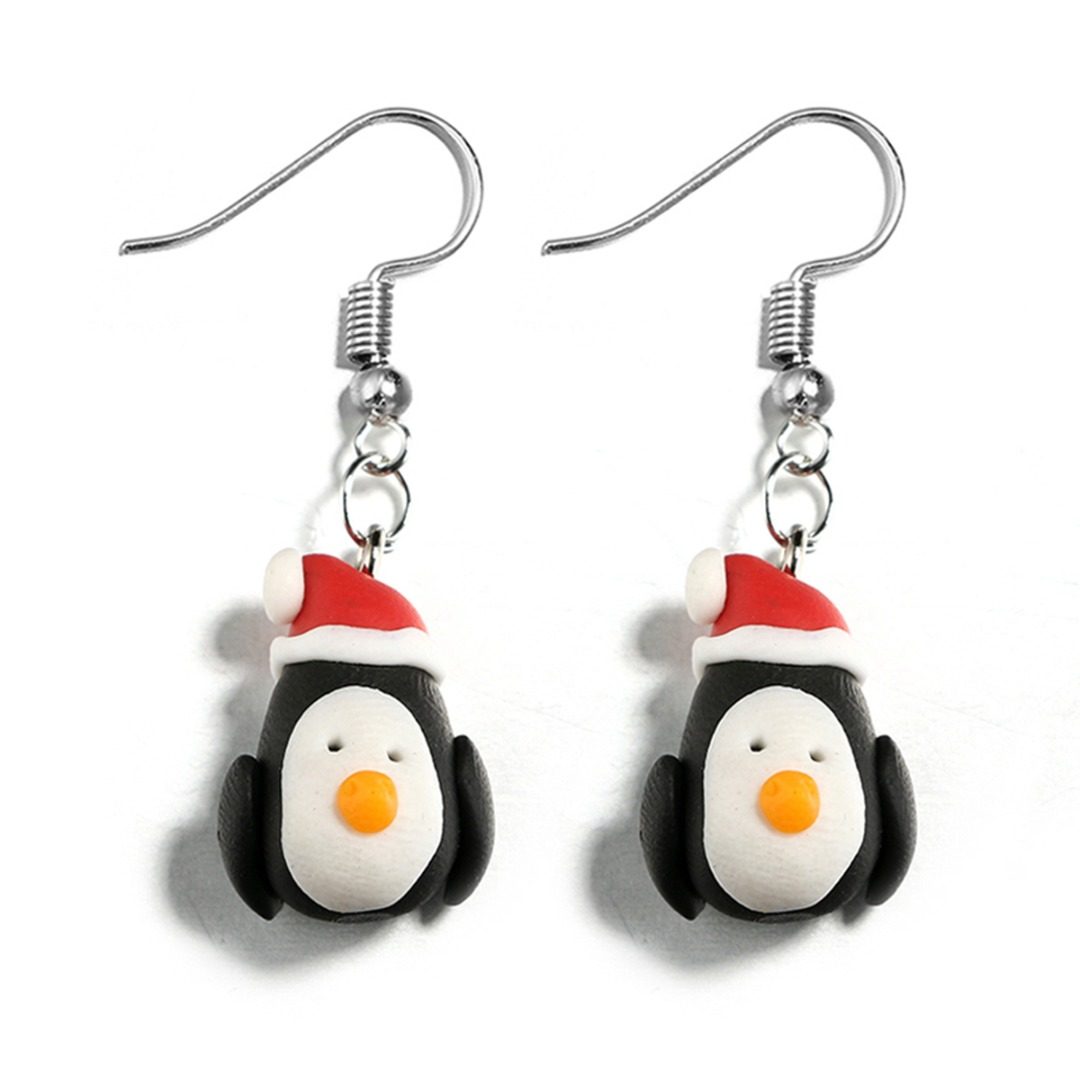 Polymer Clay Christmas Earrings.2019 Lovely Santa Claus Snowman Polymer Clay Dangle Earring For Women Shellhard Chic Fashion Christmas Earring Jewelry New Year Gift From Yes I Do